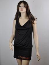 Jägermeister USA Größe S/M sexy Ketten Minikleid Rückenfrei Party Dress schwarz