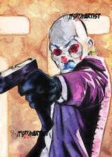 ACEO ATC Sketch Card - Heath Ledger as Joker