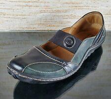 JOSEF SEIBEL Womens Size 41 /US 10-10.5 Bluish Green Mary Jane Flat Comfort Shoe