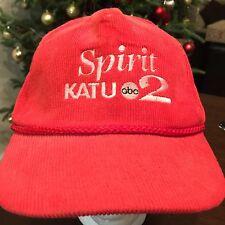 Vintage Corduroy Spirit KATU ABC News Channel Red Snapback Hat Cap
