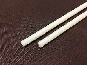 2 Varillas Roscadas Nailon M8 (Tornillo Plástico) Largo. 20cm