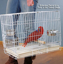 "20"" NEW Foldable Parrot Bird Travel Carrier Cage White 9202-462"