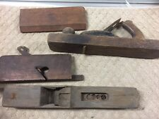 VINTAGE BOX LOT OF (4) WOOD PlaneS - GOOD FOR PARTS - TAKE A LOOK- 69-T