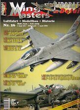 Wing masters nº 26 junio/julio de aviación 2005 * modellbau * historial