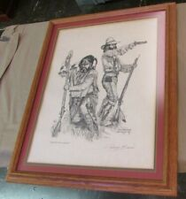 """Dan Brewer Mountain Man Signed/Framed/Matted Print """"Standing your Ground"""""""