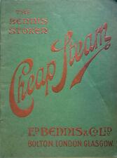 1905 – CHEAP STEAM. THE BENNIS STOKER, FORNI FORNACI INDUSTRIA VECCHIO CATALOGO