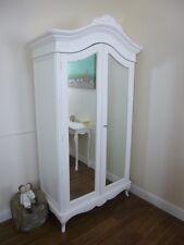 French Charroux Double Armoire In White - Handmade Double Wardrobe