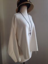 TOPSHOP Winter White Deconstructed Avant Garde Tunic Raw Edge S