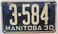 Manitoba 1930 License Plate NICE QUALITY # 3-584