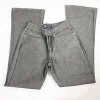 Blue Asphalt Shiny Silver Colored Wash Boot cut Jeans Womens Size 5 26x30
