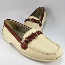 25d64a9121c Rockport Buckle Moccasins Womens Size 9.5W Brown-Beige Leather Loafers Slip- Ons