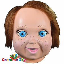 Official Childs Play 2 Good Guy Doll Chucky Mask Halloween Fancy Dress Accessory