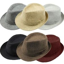 Women Men Fedora Trilby Gangster Cap Summer Beach Sun Straw Panama Hat Outdoor