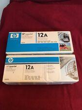 Brand New! Set of 2 Genuine HP Q2612A 12A Black Toner Cartridges OEM