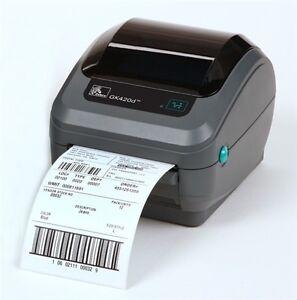 USED Zebra GK420D Direct Thermal Label Printer 203DPi USB & PARALLEL 872PS