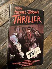 Making Michael Jackson's Thriller Beta Betamax Cassette 1983 video