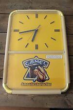 Vintage Working Joe Camel Cigarettes Wall Clock Bar Sign