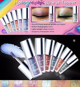 Shimmery & Glitter Liquid Eye Colors- J CAT HOLOGRAPHIC 3D EYE TOPPER *Authentic
