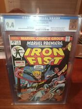 MARVEL PREMIERE 15 CGC 9.4 OW/W (5/74) 1st Iron Fist - The Living Weapon