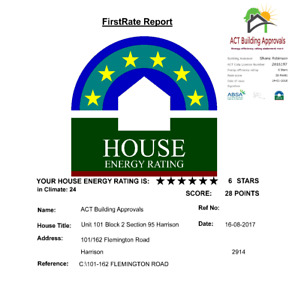 House Energy Rating (Energy Efficiency Rating Statement for Sale of Property)
