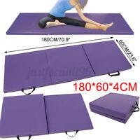 71''x24'' Folding Gymnastics Mat Yoga Exercise Fitness Gym Tri Pad Panel Pilates