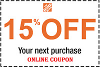 15% OFF A HOME DEPOT ONLINE PURCHASE (SAVE UP TO $200) Fast Delivery
