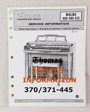 Thomas Organ Models (Pick 1) 370-371 Moog Synth, 400-405-415, 420-425, 435+