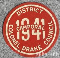 1941 District Camporal - Colonel Drake Council - Pennsylvania BSA
