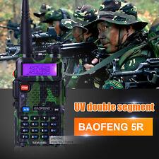 BaoFeng UV-5R Green 136-174/400-520MHz Dual-Band FM ham 5R radio Walkie Talkie