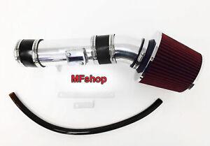 Black Red For 2007-2012 Nissan Altima 3.5L V6 Air Intake System Kit + Filter