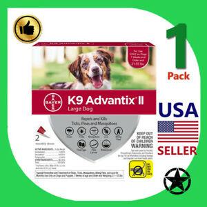 1 Pack K9 Advantix II RED for Large Dogs (21-55 lbs)