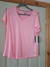 Reebok womens ladies Running Dri-fit Pink T-shirt | L gym fitness running new