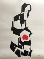 Serigraphy by Pedro Oraa, 2019, original signature of the artist. Cuban Art
