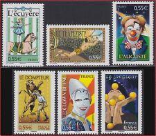 2008 FRANCE N°4216/4221**  Cirque, Clown... FRANCE 2008 Circus Set MNH