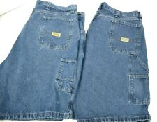 Lot of 2 Wrangler Authentic Issue Men's Denim Carpenter Shorts 42 Blue Jean