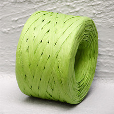 Paper Raffia Green 4mm Wide 100 metres