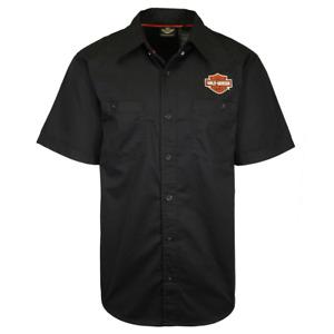 Harley-Davidson Men's Black Classic S/S Woven Shirt (S21)