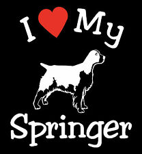 Pair of  I Love My Dog Springer Pet Car Decals Stickers Ready to Apply