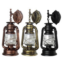 Retro Antique Vintage Rustic Lantern Lamp Wall Sconce Light Garden Yard Outdoor