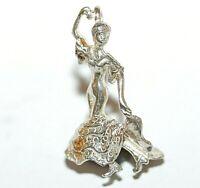 Spanish Flamenco Dancer Sterling Silver 925 Vintage Bracelet Charm