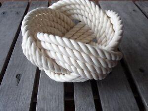 """7"""" x 5 """" Bowl- Cotton Off white"""