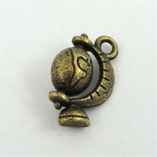 30PCS antique bronze alliage terre globe charms pendentifs crafts 20*12*6mm 39347