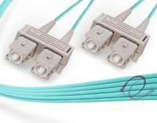 OM3 SC-SC 10Gb 50/125 Multimode Duplex Fiber Cable - [ 100 Meter ]