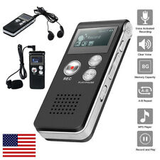 Digital Sound Activate Audio Recording Device 16GB Voice Recorder Player Lecture