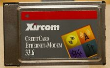 Xircom CreditCard Ethernet + Modem 33.6kbps PCMCIA PC Card Vintage