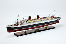 "SS Ile De France French Ocean Liner Ship Model 38"" with lights Museum Quality"