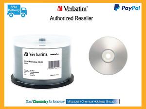 $0 P&H Verbatim AZO CDR 50 pack Spindle Silver Inkjet Printable Media PN 94892