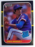 1987 87 Donruss Rated Rookie Greg Maddux RC #36, Chicago Cubs, Braves, HOF