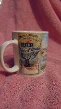 John Deere 11 OZ Cup Mug Coffee tea Reindeer Cultivator Tractor Big Green