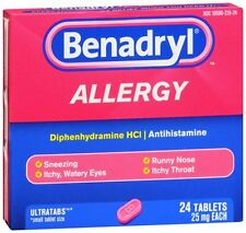 Benadryl Allergy Ultratab Tablets 24 Tablets